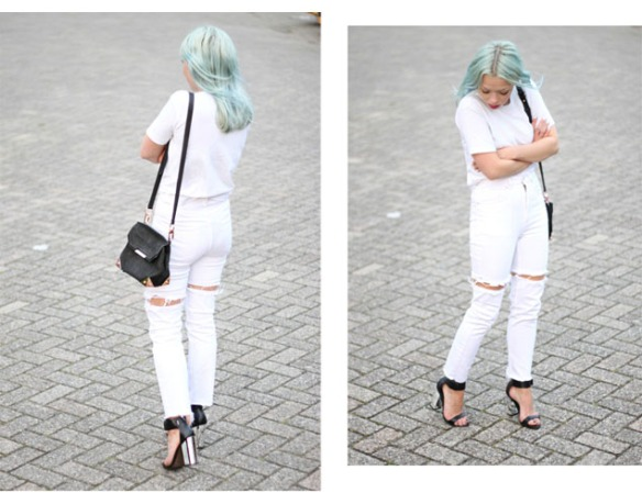 FLOATING DENIM - Love Aesthetics - full white - marques almeida inspired