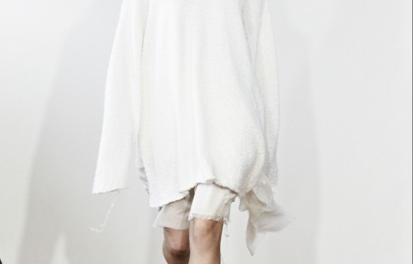 Marques Almeida SS13 - full white - minimalism - clean