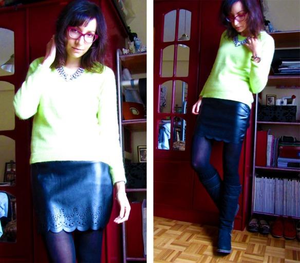 Neon angora sweater