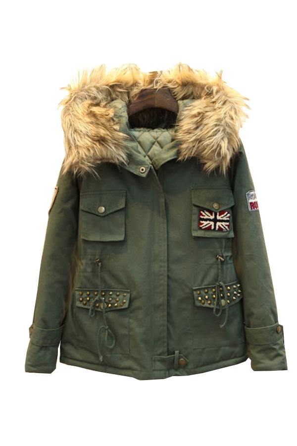 Hooded Military Coat
