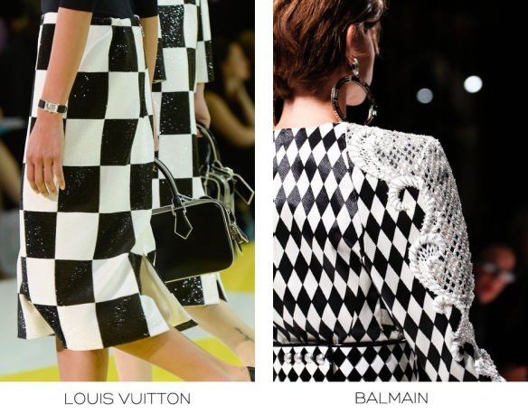 louis vuitton balmain ss 2012 graphic print