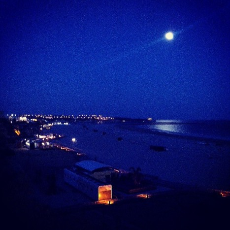 summer, instagram, summer nights, algarve, portimao, beach, night, landscape,