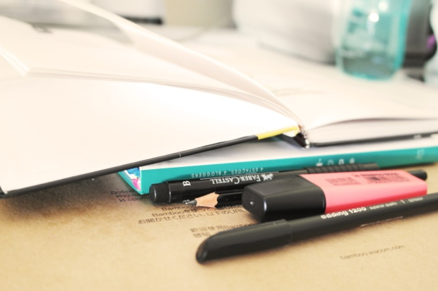 neon, back to school, notebooks, desktop, workspace, decor, room tour, style and expect