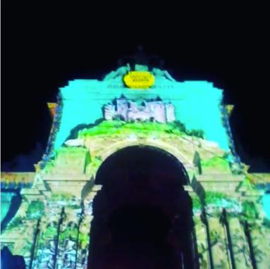 videomapping, lisbon, rua augusta, arco da rua augusta, terreiro do paço, night,