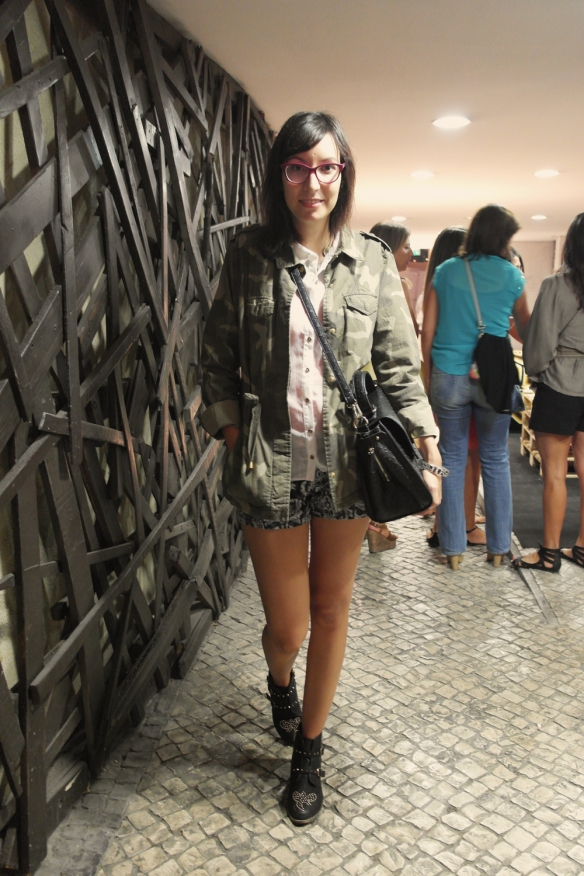 fno, lisbon, fashion's night out, vogue, camo jacket, lisbon fashion blogger