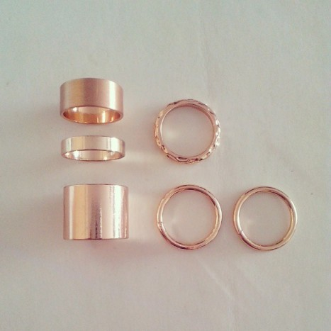 gold rings, ring set, hm rings, hm accessories, fall 2013, instagram