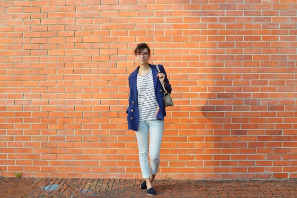 navy blue, navy trend, striped top, blue stripes, french inspiration, preppy look, blooger, style and expect
