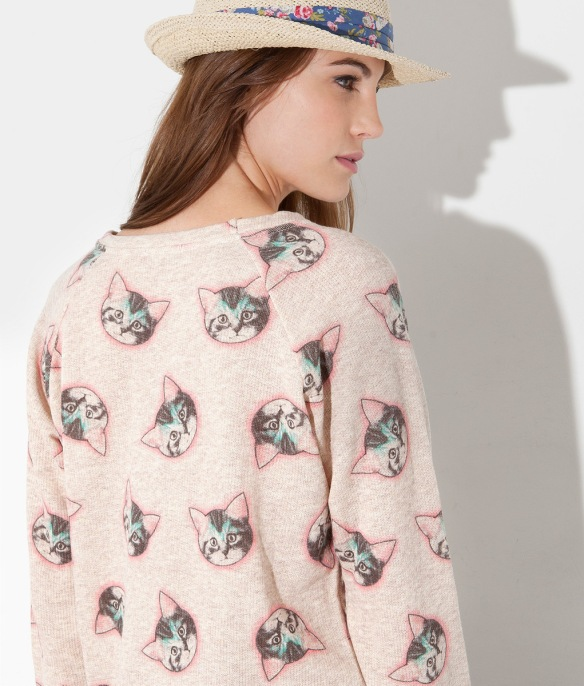 cats, cat lady, cat sweater, cat print, springfield