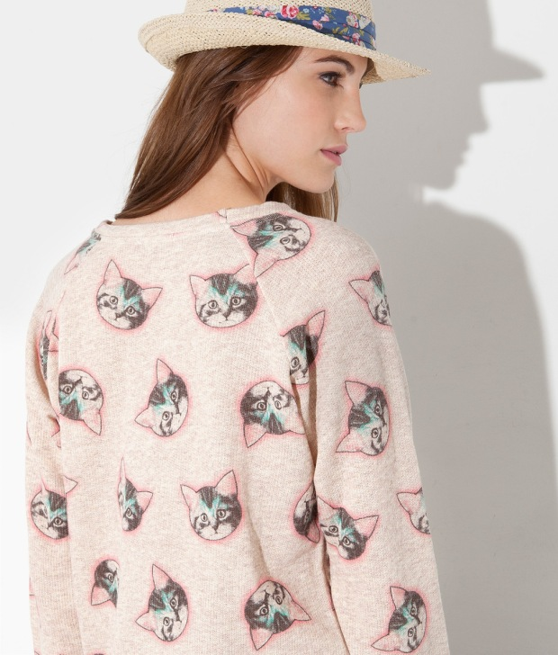 cats, cat lady, cat sweater, cat print, springfield